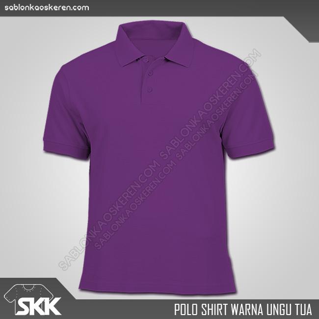 Polo Shirt Warna Ungu Tua
