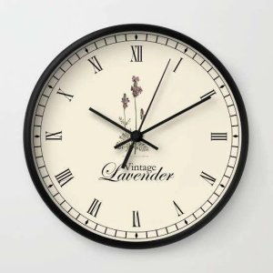 Customized Lavender Clock Wall Clock custom printed
