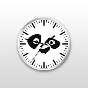 Customized Panda Wall Clock custom printed and designed