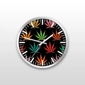Customized Weed Wall Clock Custom printed and designed