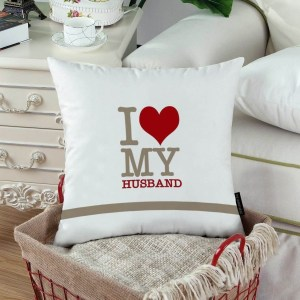 I Love My Husband Custom Printed Pillow