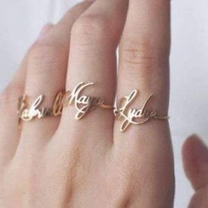 Personalized Ladies Name Ring - Customized
