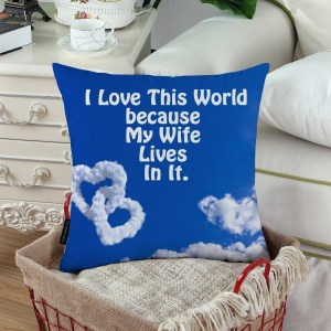 customized I Love My Wife Custom Printed Pillow