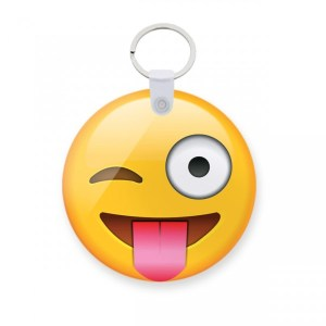 customized Joking Emoji Art Keychain - custom printed