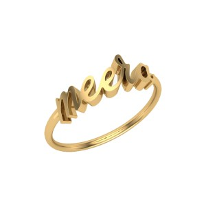 personalized Gold Plated Ring Name Engraved customized