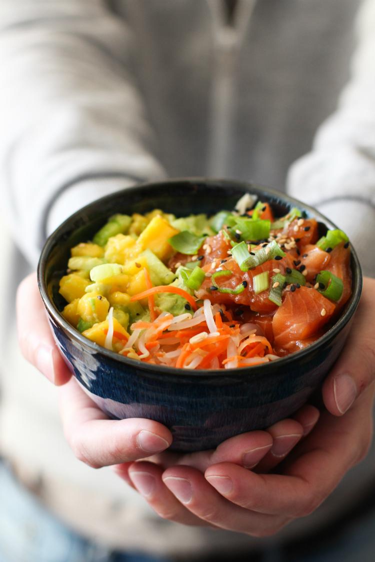 poke bowl de salmon