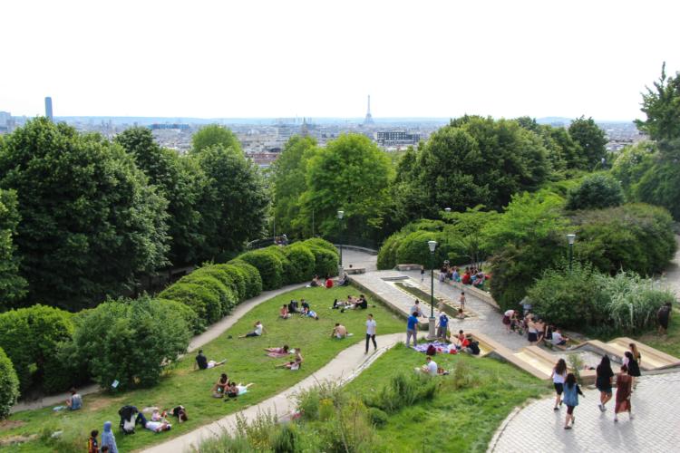 Parc de Belleville - Paris, Francia