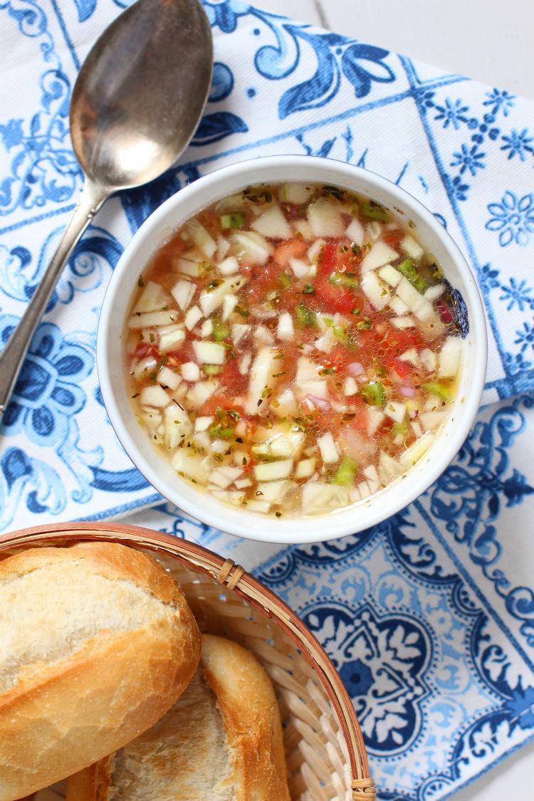 gazpacho portugues receta facil y original con fotos paso a paso