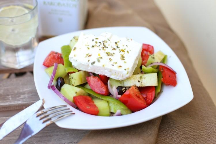 La verdadera ensalada griega
