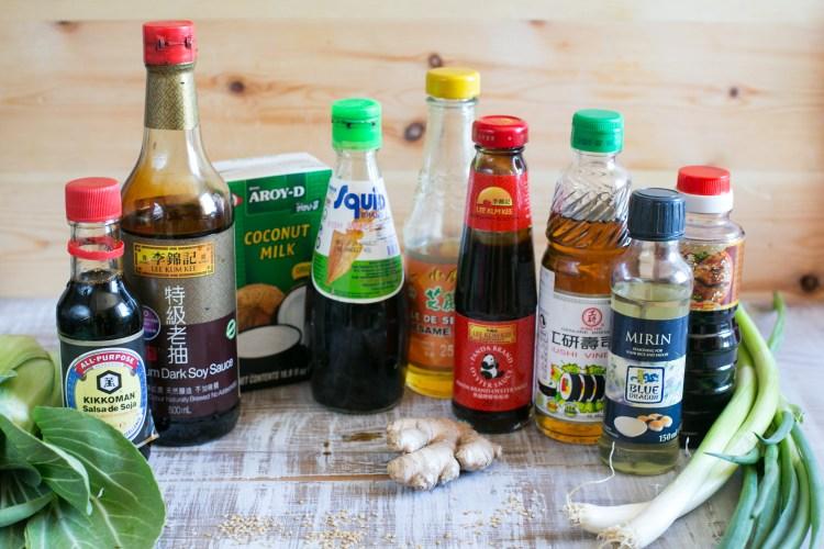 Guía de salsas e ingredientes para cocinar asiático