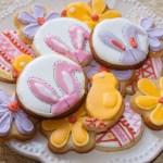 Galletas de limón con motivo de Pascua