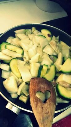 Cebolla, calabacín e hinojo
