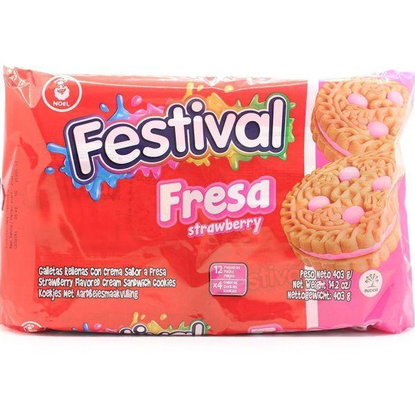 Galletas festival de fresa