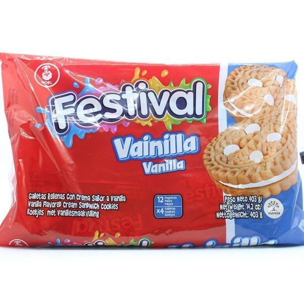 Galleta festival de vainilla