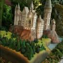 Pastel con forma del castillo de Hogwarts