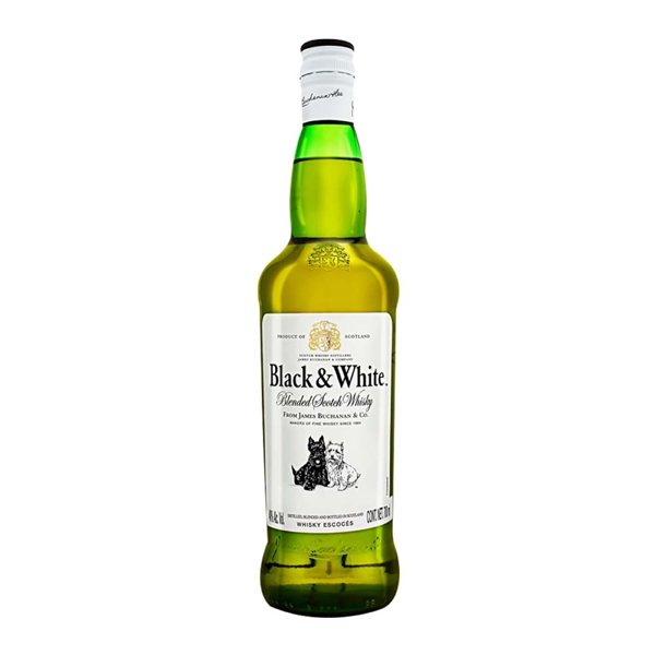 Whisky Black & White escocés 700 ml