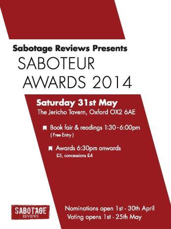 Saboteur Awards 2014 flyer