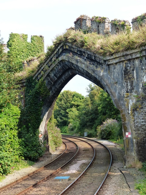 Breaking through the city walls - Conwy Railway Station