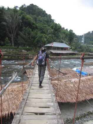 Our guide crossing