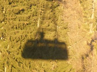 Cable car shadow