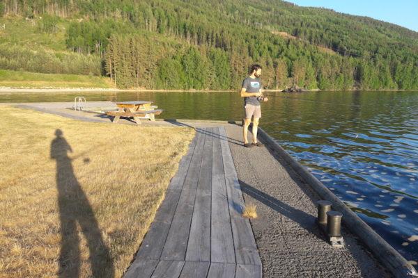 Kein Fischglück am Nissersee - dafür mit Wetterglück (27 Grad und wolkenloser Himmel).