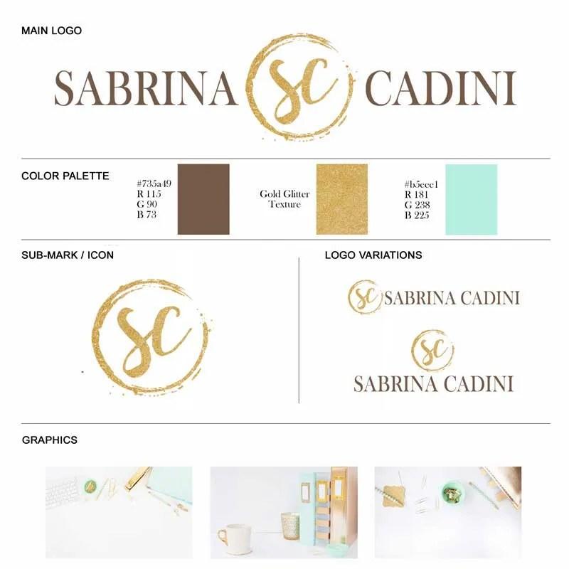sabrina cadini weddingpreneurs lounge logo makeover business coaching brand design 2017
