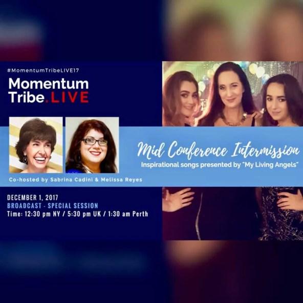 sabrina cadini momentum tribe live virtual conference speaker host streaming expert entrepreneur coach melissa reyes my living angels