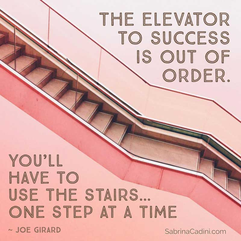 sabrina cadini elevator to success out of order take the stairs one step at a time weddingpreneurs business coach entrpepreneurs