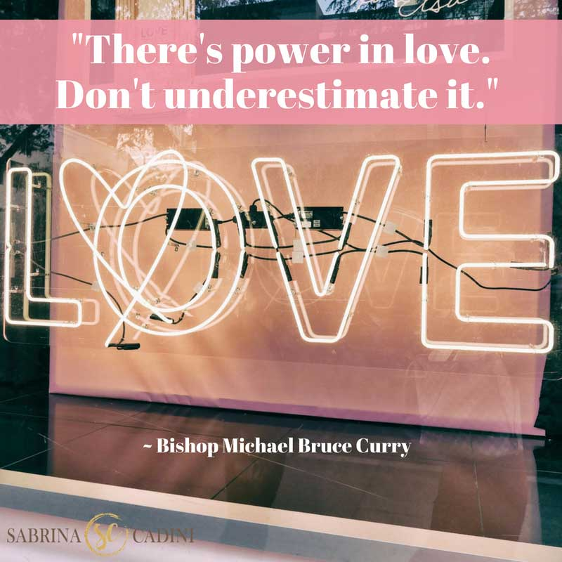 sabrina cadini monday moves me power of love inspiration motivation royal wedding bishop curry creative entrepreneurs business coach