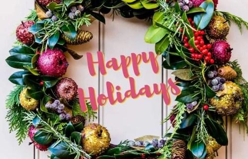 sabrina cadini happy holidays greetings merry christmas happy new year holiday wreath