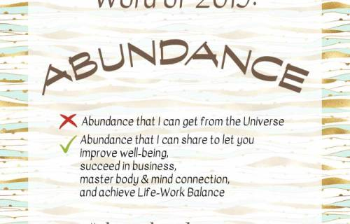 sabrina cadini abundance creative entrepreneurs word of the year 2019 life work balance