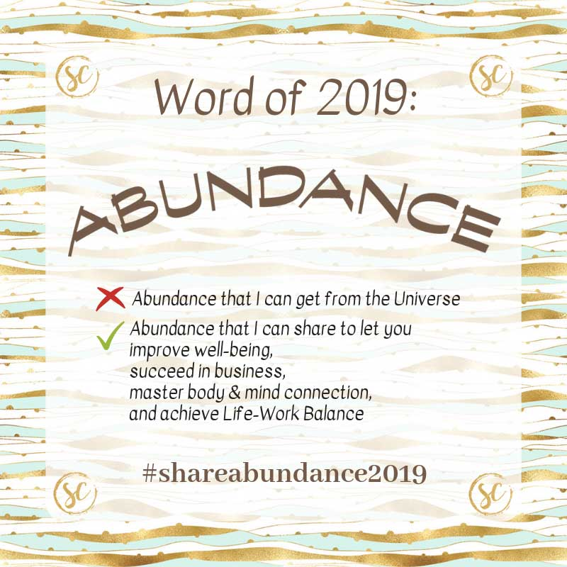 sabrina cadini abundance creative entrepreneurs word of the year 2019 life work balance