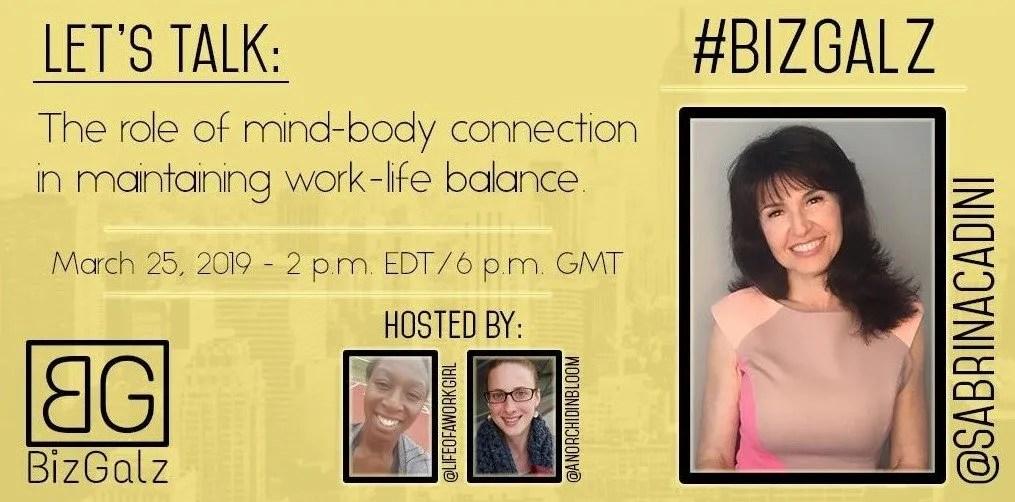 sabrina cadini twitter chat guest bizgalz life-work balance