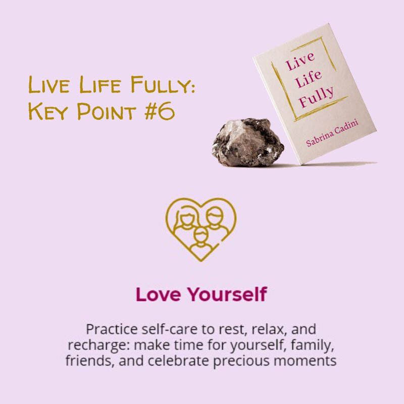 sabrina cadini live life fully book crowdfunding campaign holistic life coach love yourself self-care busy professionals