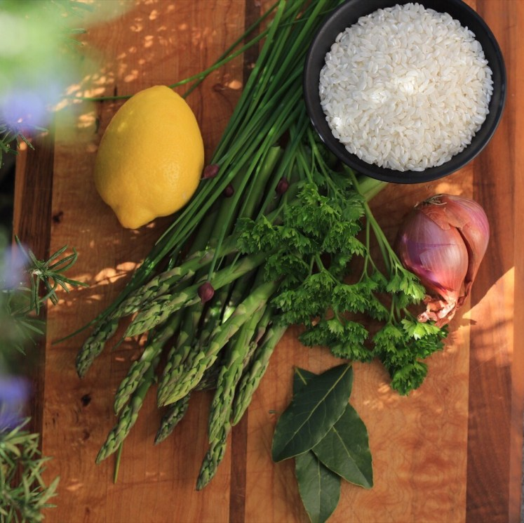 Spring Risotto Ingredients