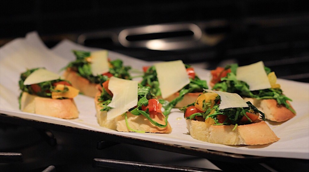 Finished Arugula Crostini