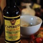 Making Vinagrette with Sherry Vinegar