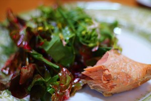 Fresh BC Salmon and Garden Salad