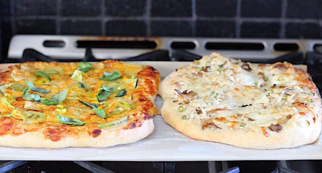 Basic Pizza Dough and Easy Zucchini Pizza