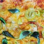 Luscious Bubbly Zucchini Blossom Pizza