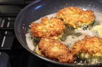 Easy Golden Zucchini Cheddar Fritters