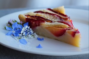 Fast and Easy Plum Clafoutis