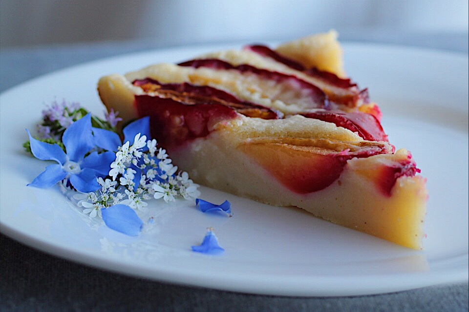 Fast and Easy Plum Dessert-Clafoutis