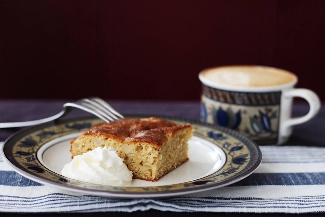 Easy Apple Brown Sugar Cake With Cardamom