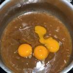 Add Eggs Into Melted Butter and Brown Sugar