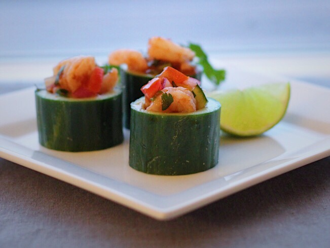 Wild BC Seafood-Pink Shrimp Cocktail In Cucumber Cups