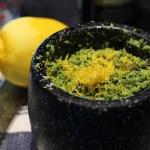 Lemon Zest In Sorrel Pesto