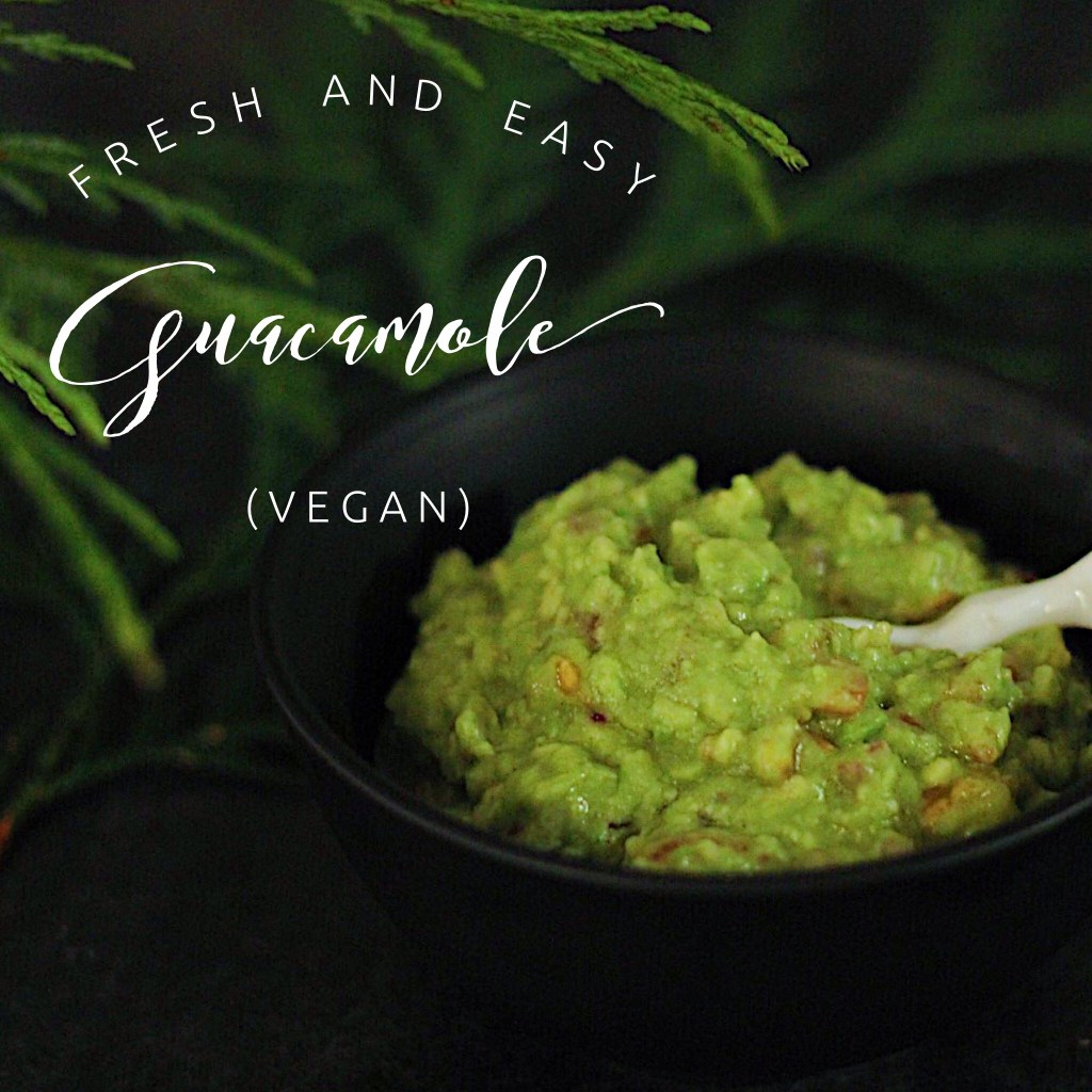 Vegan 5 ingredient guacamole recipe