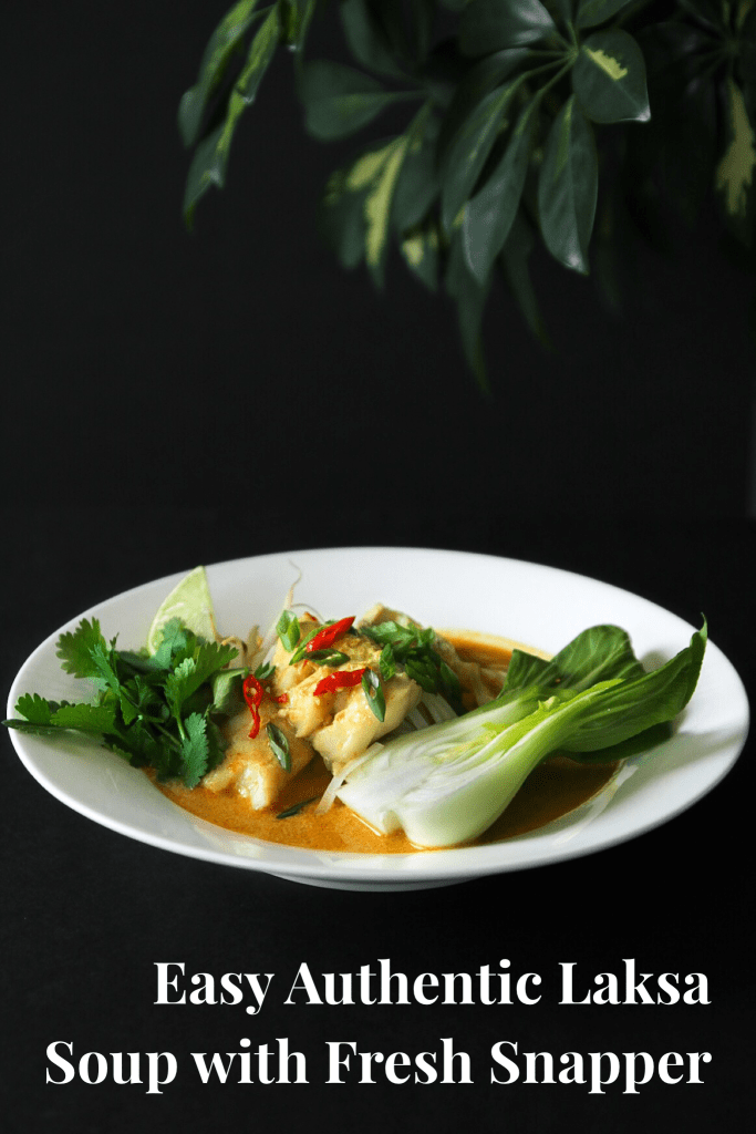 Easy Authentic Laksa With Snapper (Pinterest image)