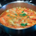 Sustainable Shrimp/Prawns In Tomato Fennel Orange Broth